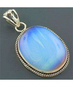 Handcrafted Sterling Silver Fire Opalite Pendant (India)