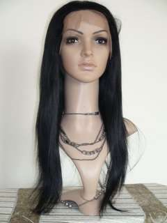 22 French Full/Front Lace Wig Indian Remi Silky Straight Human