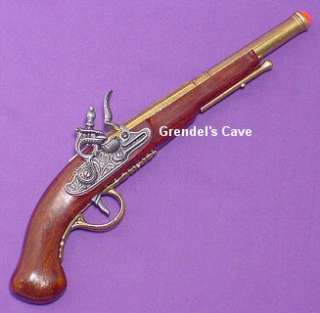 1700s REVOLUTIONARY WAR FLINTLOCK PISTOL Pirate Gun