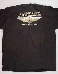 HARLEY DAVIDSON ALAMO CITY T SHIRT MENS XL