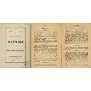 the Laurean Society of the University of Oregon Oregon imprint Books