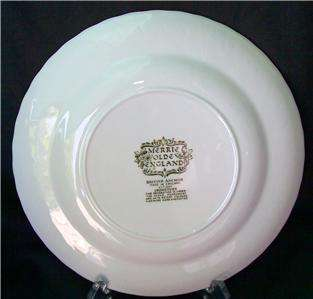 British Anchor MERRIE OLDE ENGLAND Country Inn Colored Collector Plate