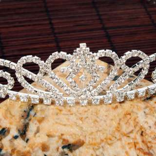 Gorgeous Shining Wedding Bridal Tiara Rhinestone Crown Hair Comb Pins