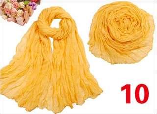 New Fashion Long Drape Pure Colour Soft Scarf Shawl Wrap for Women