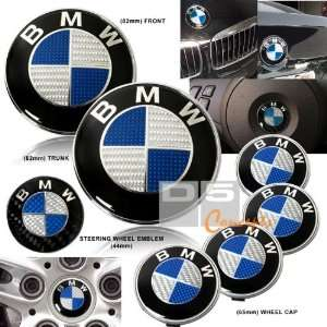 86 92 BMW E30 Hood/Trunk/Wheel Emblem Combo   Blue/Real