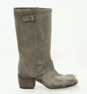 Fiorentini + Baker Dusty Brown Leather Motorcycle Boots Size 37