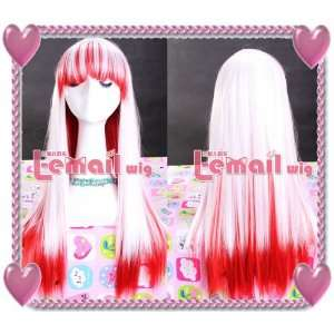Straight Beauty White Red Cosplay Girl Hair Wig Cb23 Toys & Games