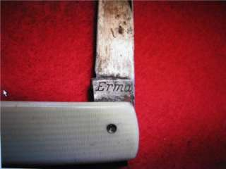 Up For Auction is an Rare Old Vintage Erma, Finedge OTISO Knife. Made