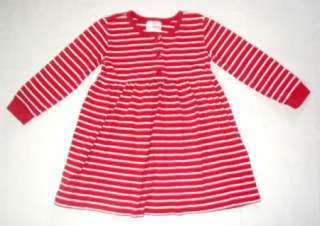 Girls HANNA ANDERSSON Day Play DRESS Red Stripes 100 cm 4