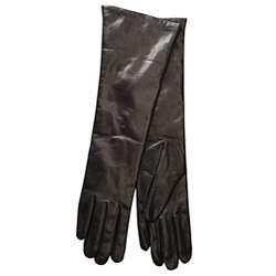 Portolano Womens Italian Cashmere/ Leather Gloves