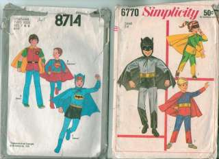 Simplicity Batman Superman Super Heroes Costume Sewing Pattern Childs
