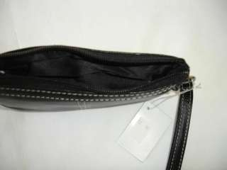 BLACK Cow Soft Leather Small Wristlet Purse Wallet New