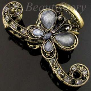 ADDL Item  rhinestone crystal Antiqued butterfly hair