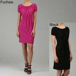 Tiana B. Womens Solid Jersey Dress