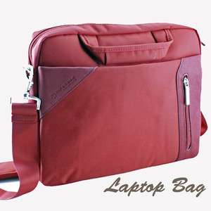 10 Laptop notebook sleeve case shoulder bag briefcase   Red