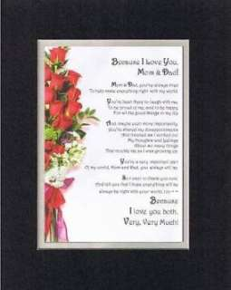 and Heartfelt Poem for Parents   Because I Love You, Mom and Dad Poem