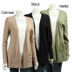 Cullen Womens Cashmere Open Cardigan Sweater