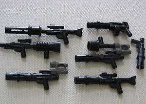 LEGO 7 BLACK STAR WARS GUNS WEAPONS SNIPER PISTOLS MORE