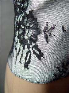 VICTORIAN Black Lace Underbust Waistcoat Corset Vest S
