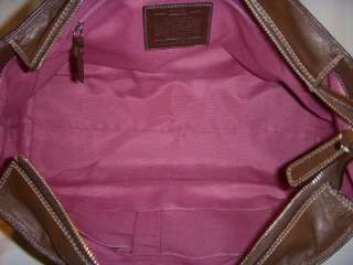 COACH 13960 XXL BROWN PEBBLED LEATHER HAMPTON WEEKEND TOTE BAG/PURSE