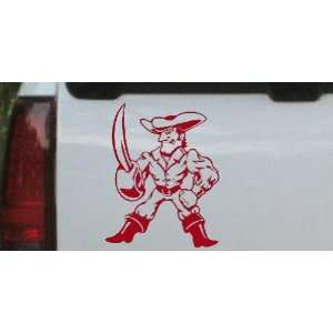 Buff Pirate With Sword People Car Window Wall Laptop Decal