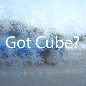 Got Cube? White Decal Nissan Cube Car Window Laptop White