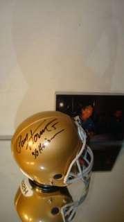 Paul Hornung SIGNED Notre Dame Helmet BANK