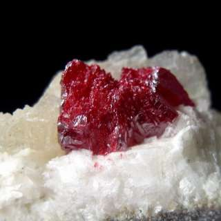 Gem Cinnabar Large Crystal on Dolomite AZ041