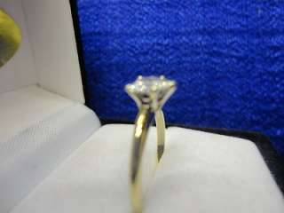 14K TWO TONE GOLD .57 CT HEART SHAPED DIAMOND ENGAGEMENT RING, SIZE 6