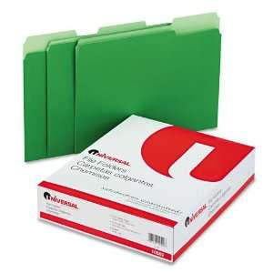 Universal  Colored File Folders, 1/3 Cut, One Ply Top Tab