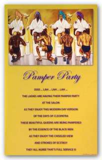 AFRICAN AMERICAN ART Pamper Party Kevin Williams (WAK)