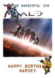 Halo Reach Personalised Birthday Card Son Video Game