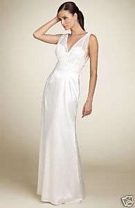 SEAN COLLECTION DOUBLE VNECK LONG ILLUSION GOWN FORMAL DRESS BEACH