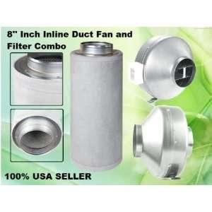 Inch Inline Duct Fan Carbon Filter Combo Scrubber Exhaust Blower Fan