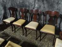 SET OF TEN SOLID MAHOGANY HICKORY EMPIRE DINING ROOM CHAIRS BEAUTIFUL
