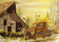 Ben Williams Outback Signed Numbered offset lithograph old truck