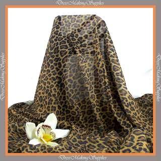 4w stretch Mesh fabric Leopard print Price per 1/2 yard