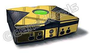 GOLD MIRROR SKIN for Xbox system mod kit skins