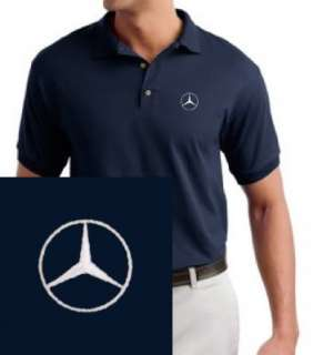 Mercedes Benz EMBROIDERED Navy Blue Polo Shirt