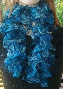 CANEY LAKE WAVES RUFFLED SCARF KIT   Yarn, Knit & Crochet Pattern