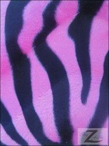 VELBOA FABRIC PINK ZEBRA PRINT FAUX FUR ONLY $6.49/YARD SOLD BTY