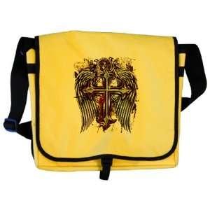 Messenger Bag Cross Angel Wings