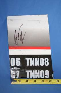Brad Keselowski signed LARGE SHEET METAL RACE USED #22