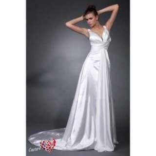 line Straps Court Train Wedding Dress with Bodice