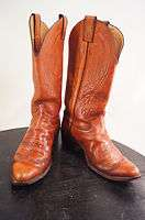 Justin Vintage Brown Leather 7.5 D Mens Western Boots