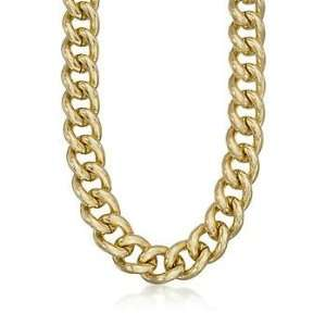 Sterling Silver and 14kt Gold Plate Large Link Necklace. 20 Jewelry