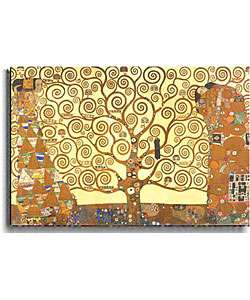 Gustav Klimt The Tree of Life Stetched Canvas Art