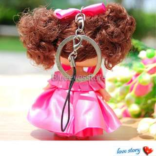 New Handmade Cute Lovely Ddung Doll Cell Phone PSP Strap Keychain Key