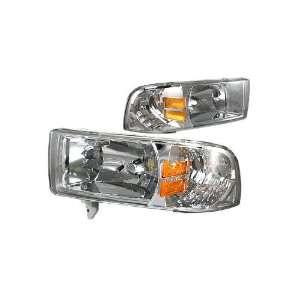 Dodge Ram Chrome / Amber Euro Headlight Automotive