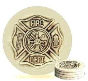 FIREFIGHTERS CUSTOM PROMOTIONAL GIFT DRINK COASTER SET